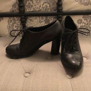 Nine West Leather Oxford Booties